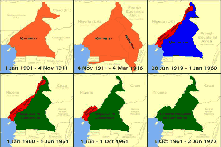 Map of Cameroon over time