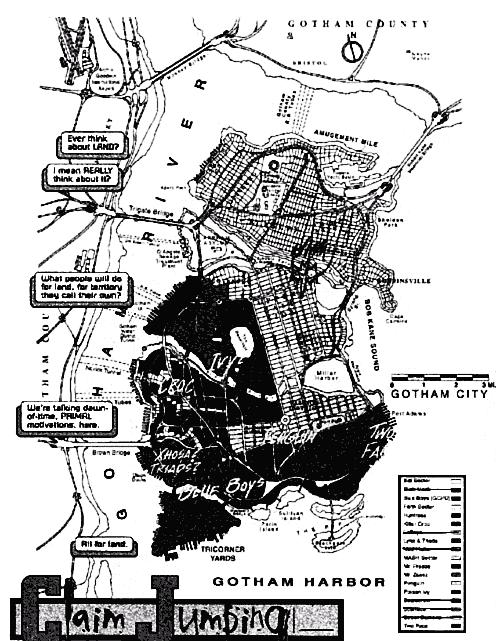 Map Gotham City